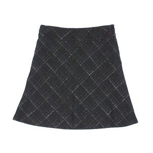 [a39-9] Old Navy | checkered wool skirt